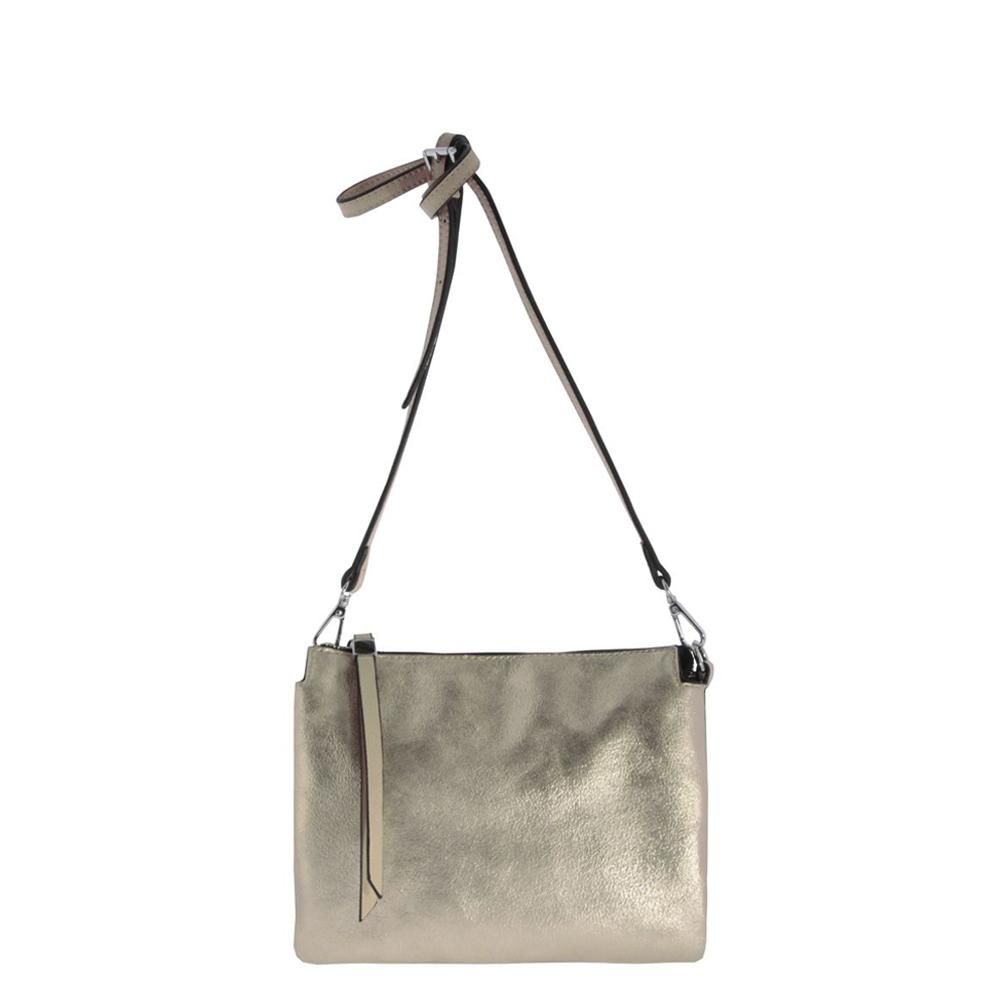 Novalee Metallic Vegan Leather Pouch