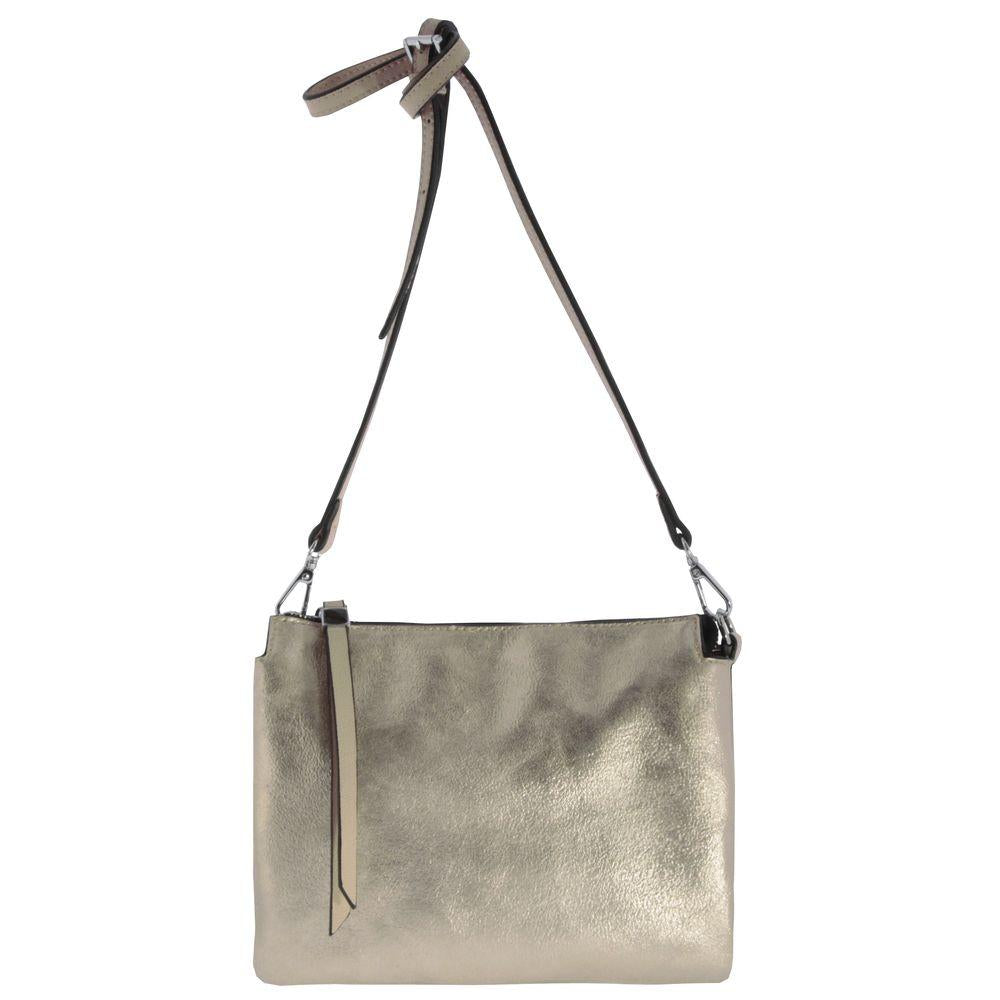 Katie Metallic Vegan Leather Pouch Crossbody