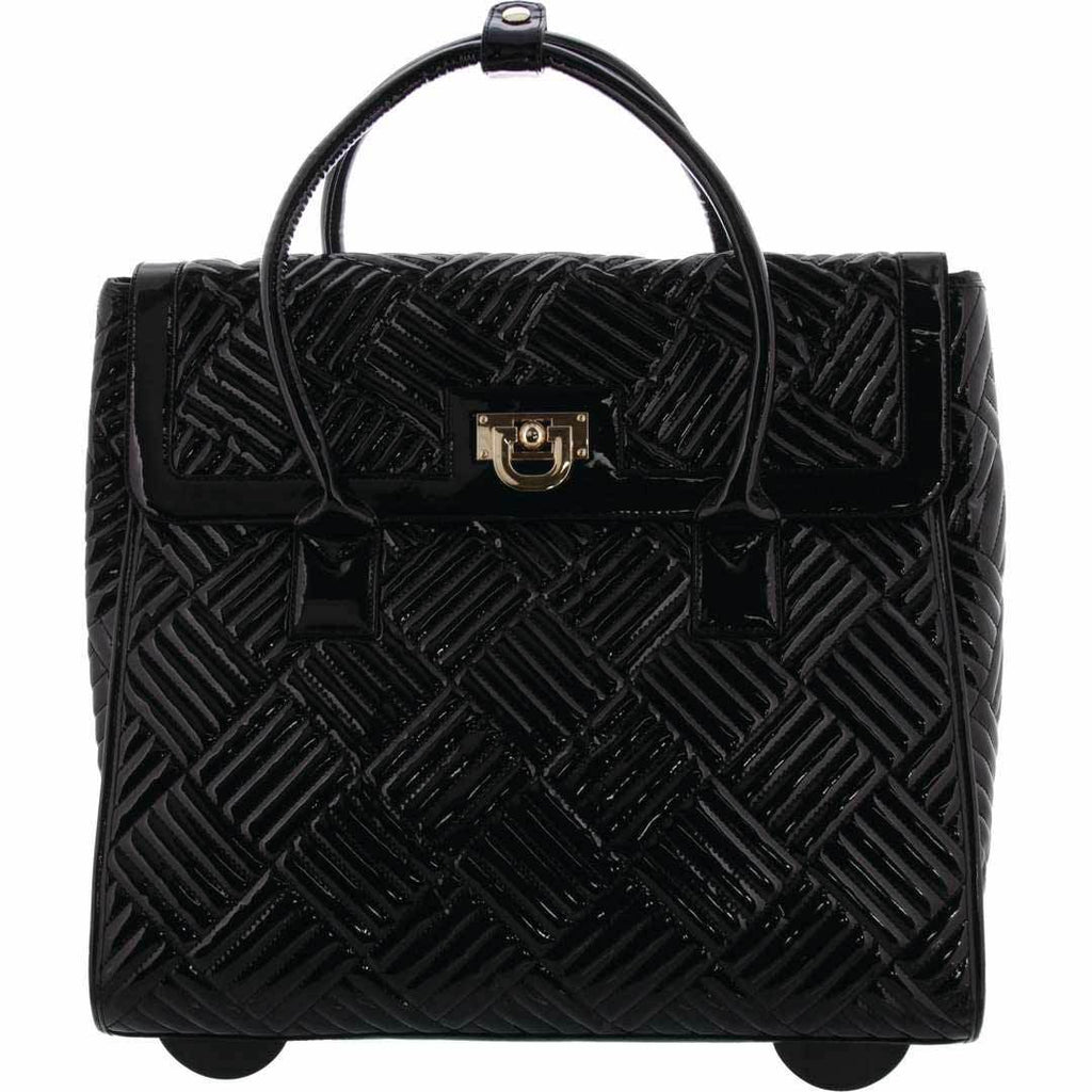 Odessa Patent Quilted Trolley Bag
