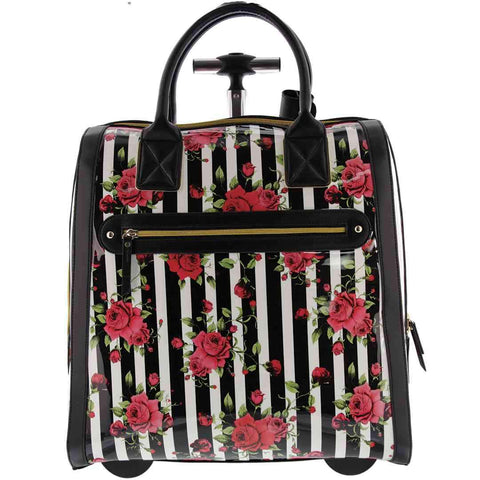 Budapest Floral Print Trolley Bag