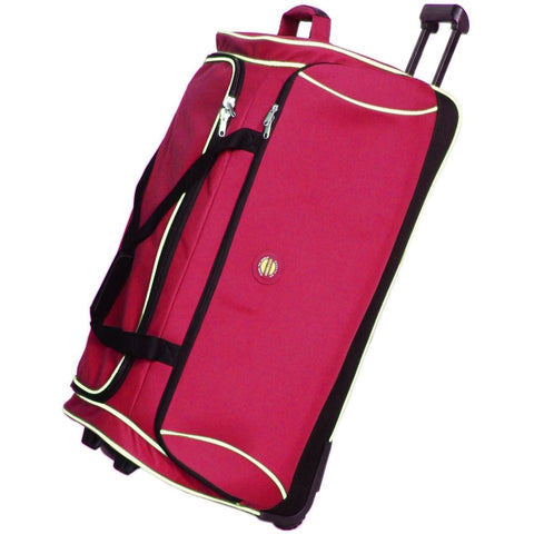 Cobb & Co-Tulla Wheel Duffel Bag Large-RED-Duffel Bag - Gabee Bags | Gabee.com.au