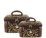 Serengeti Beauty Case Set Of 2 - Leopard