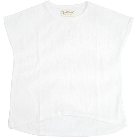 SEERSUCKER JERSEY FRENCH SLEEVE TEE - H191-0901