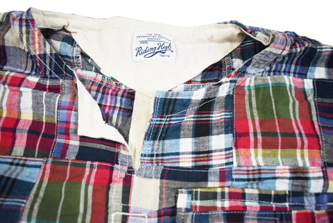 "THE TOWN VEST ""PATCH MADRAS"" - B202-0605"