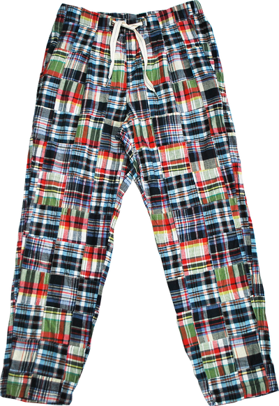 "HANG OUT PANTS ""PATCH MADRAS"" - R201-0504"