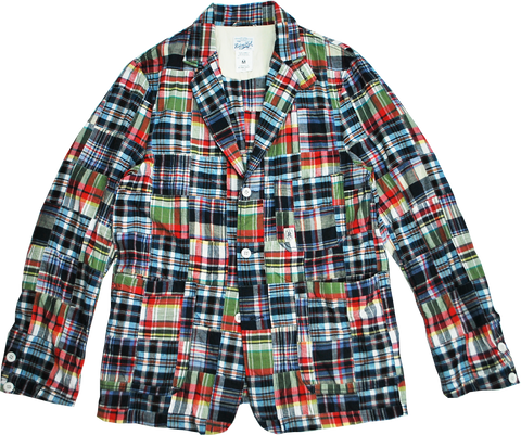 "HANG OUT JACKET ""PATCH MADRAS"" - R201-0604"