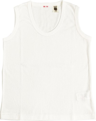 RIB STRIPE PILE TANK-TOP for ladies - H201-0106