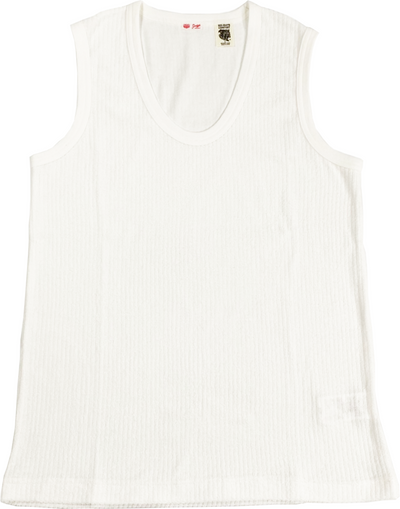 RIB STRIPE PILE TANK-TOP for unisex - H201-0106