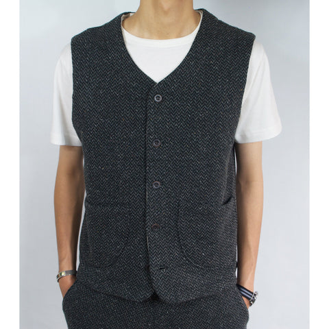 TWEED NEP FLEECE VEST - R183-0605
