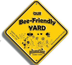 bee friendly yard sign save the bees gardening