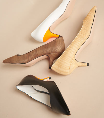 Shoes made out of wine and wood leather
