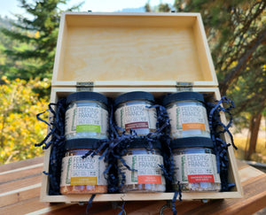 6 Jar Recipe Box Gift Set + Salt Price ($7.99 is only for tin and gift wrap)
