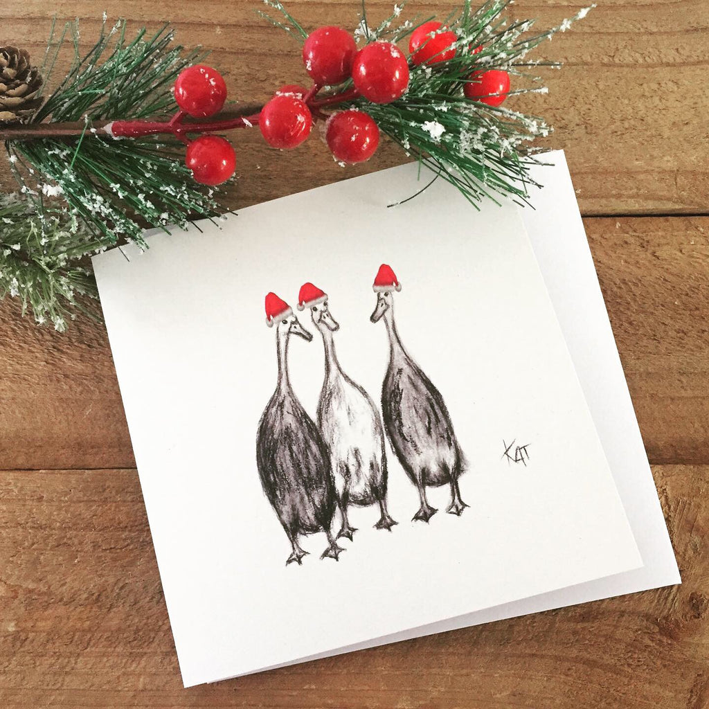 Gabby, Abby and Tabby Christmas Card