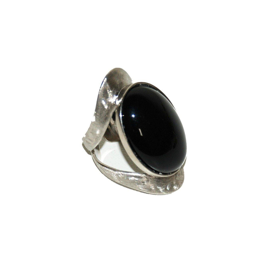 Allure Ring - Sterling Silver & Black Onyx