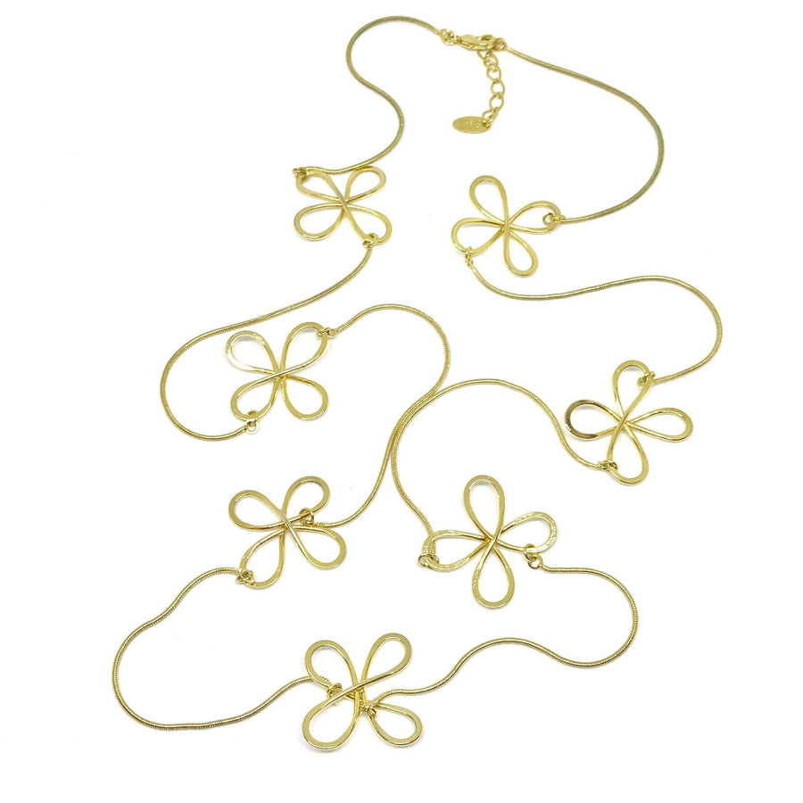 Four Leaf Clover Long Necklace
