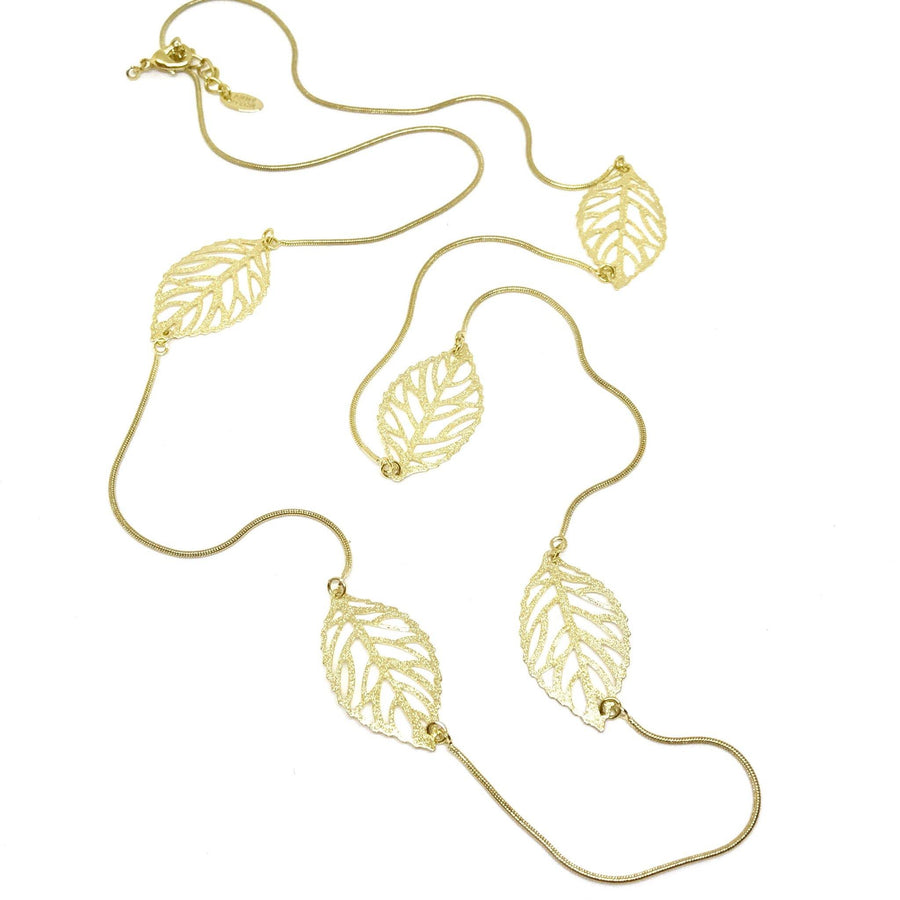 Golden Leaf Necklace - Anny Stern Jewelry
