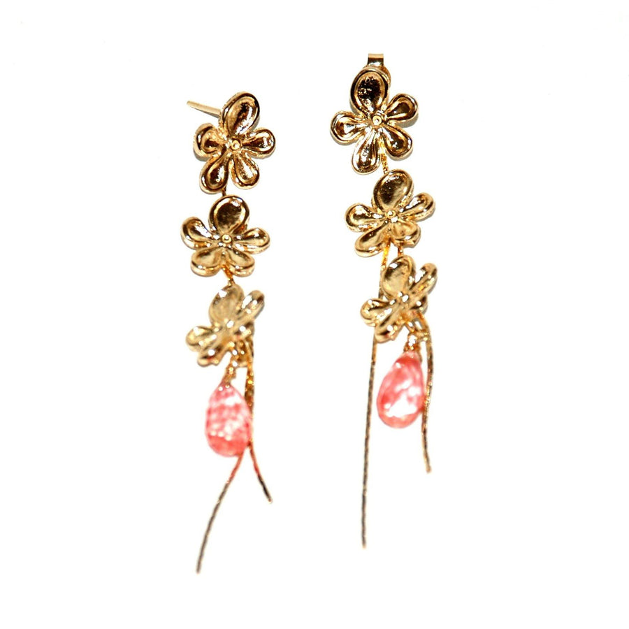Garden Earrings - Cherry