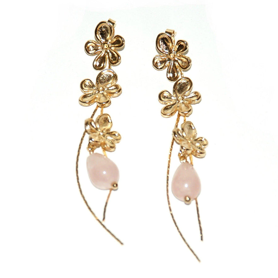 Garden Earrings - Rose Quartz