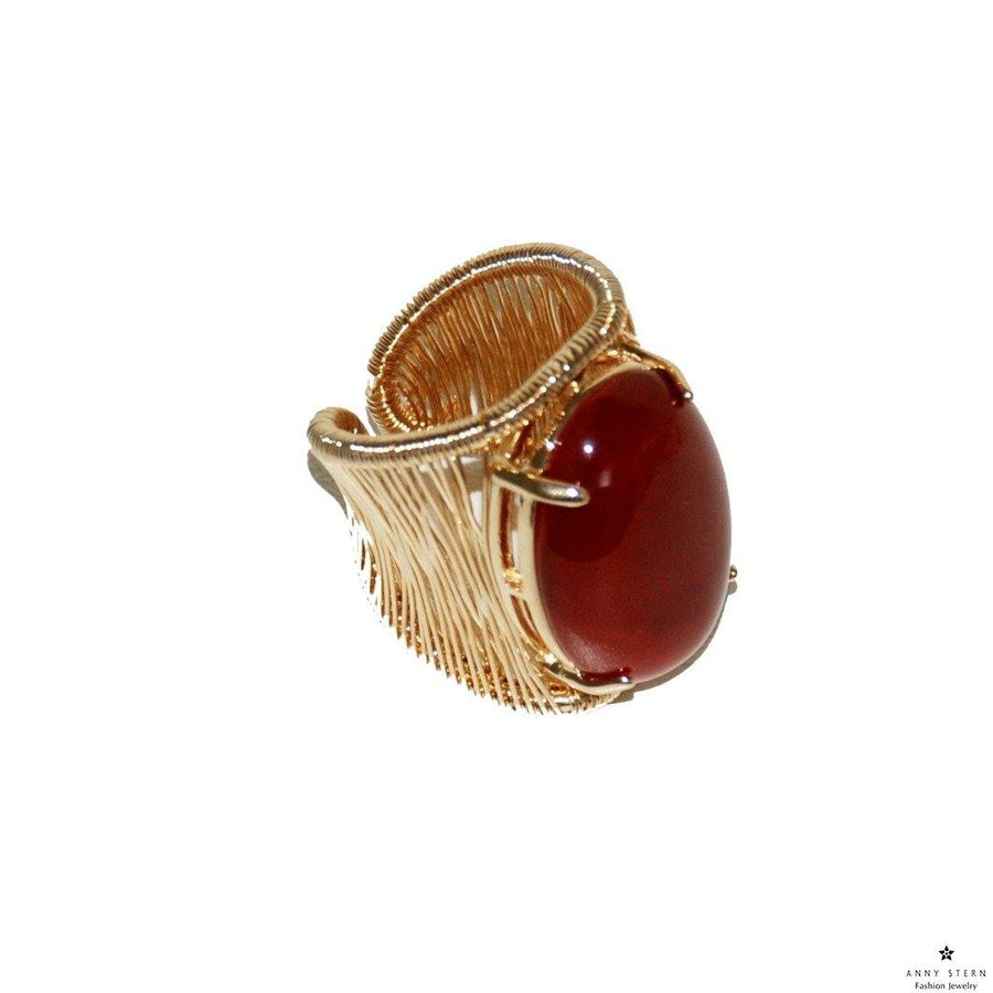 Filo D'oro Ring – Red Agate - Anny Stern Jewelry
