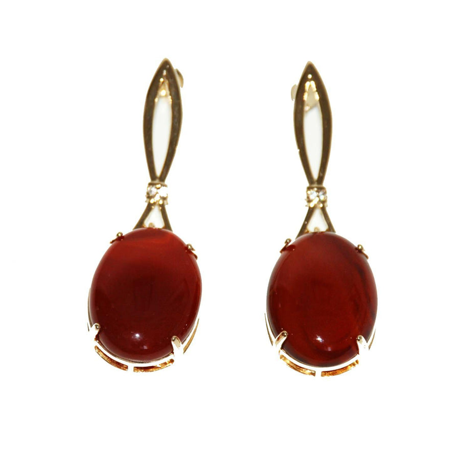 Ribon Earrings - Agate