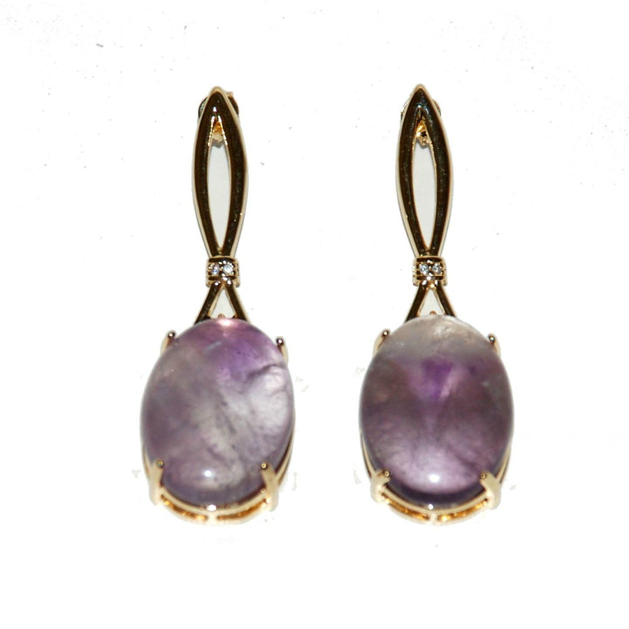 Ribon Earrings – Amethyst