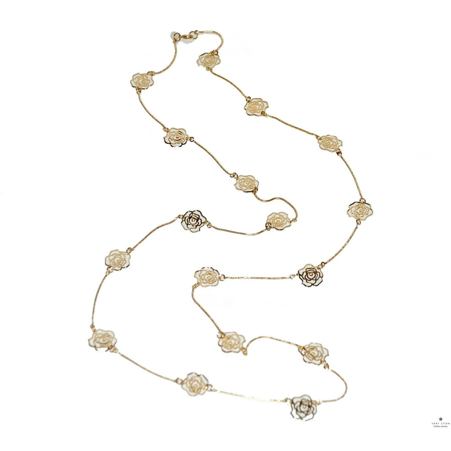 Flower it Up Necklace- Yellow Gold
