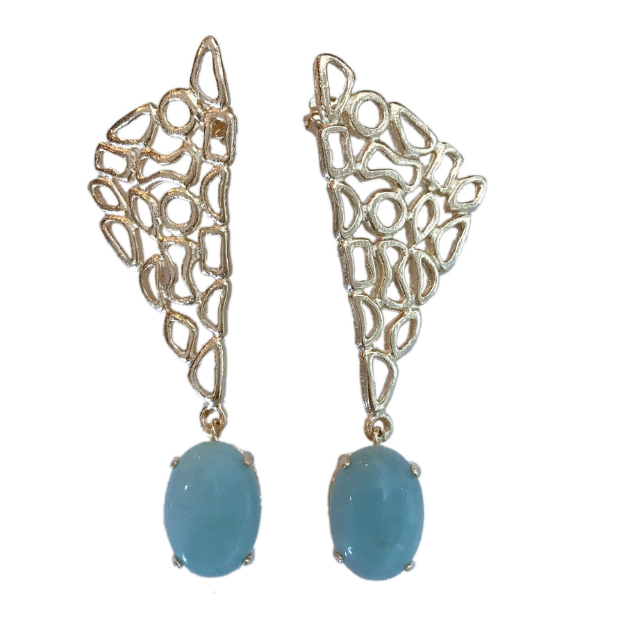 Abstract Earrings - Amazonite