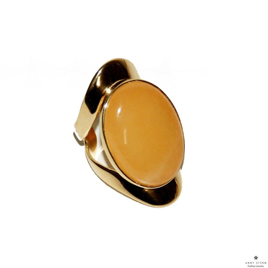 Allure Ring - Yellow Jade