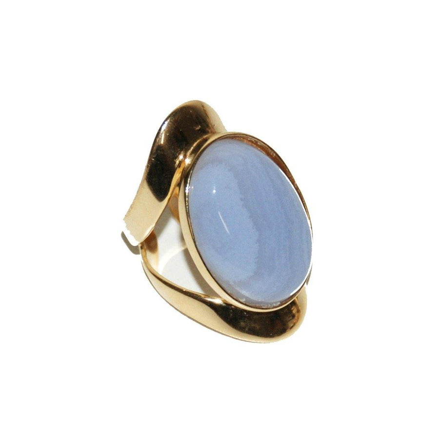 Allure Ring - Blue Lace Agate - Anny Stern Jewelry