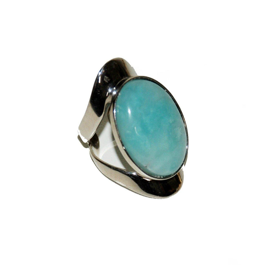 Allure Ring - Sterling Silver & Amazonite