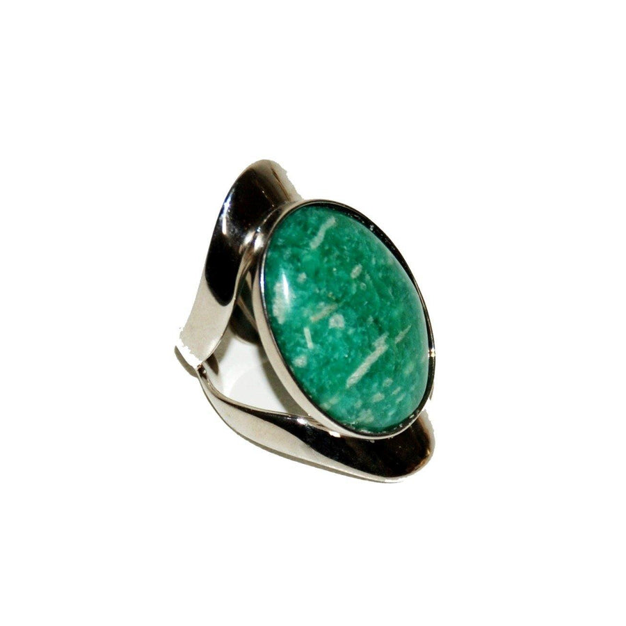 Allure Ring - Sterling Silver & Amazonite D