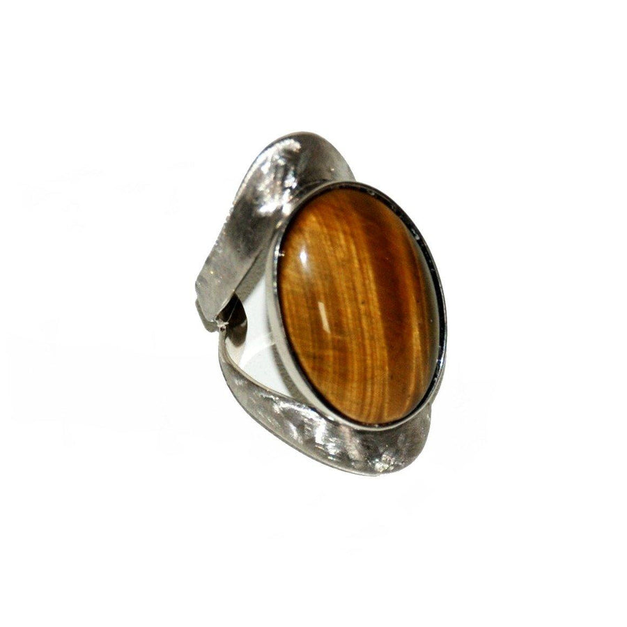 Allure Ring - Sterling Silver & Tiger Eye