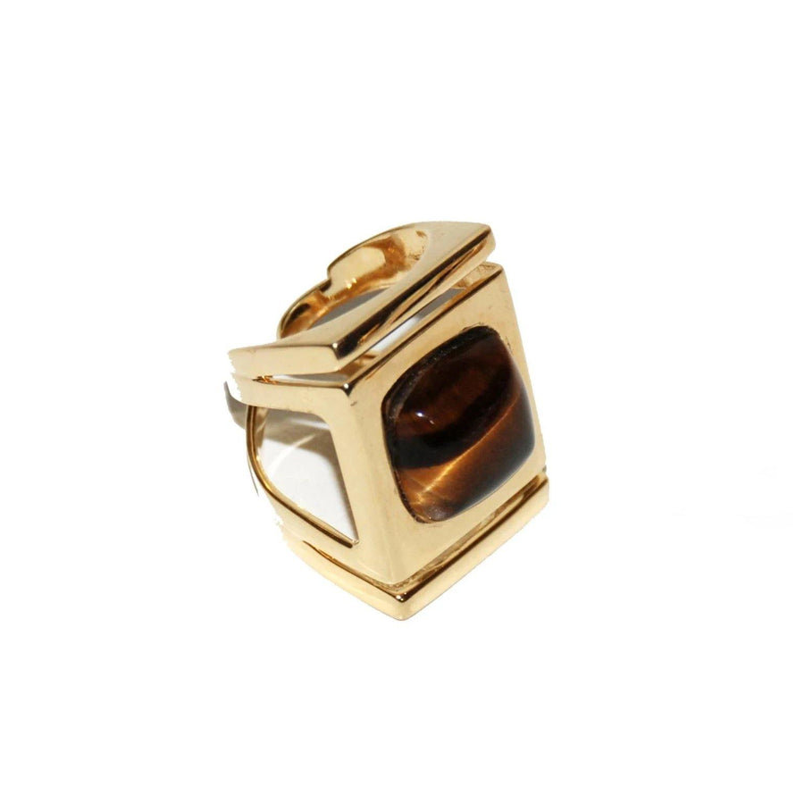 Architectural Ring - Tiger Eye