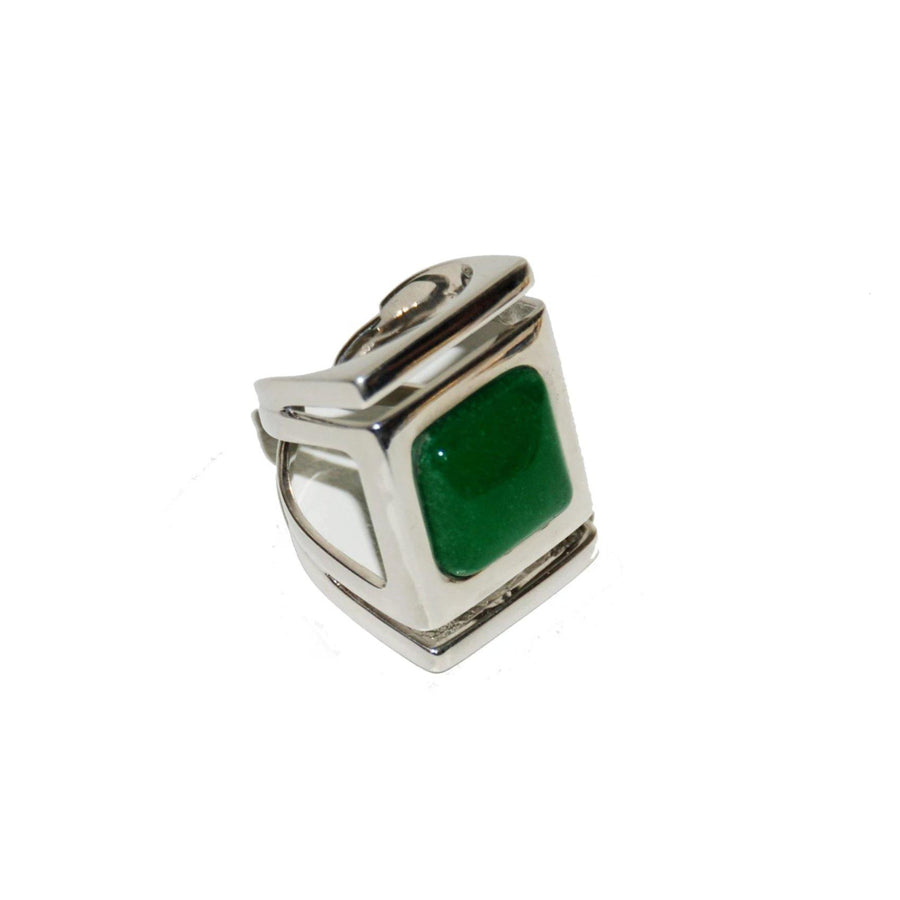 Architectural Ring/ Sterling Silver - Jade