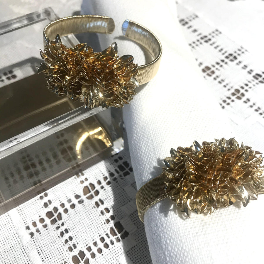 Set of 4 - Leave Cluster Napkin Ring