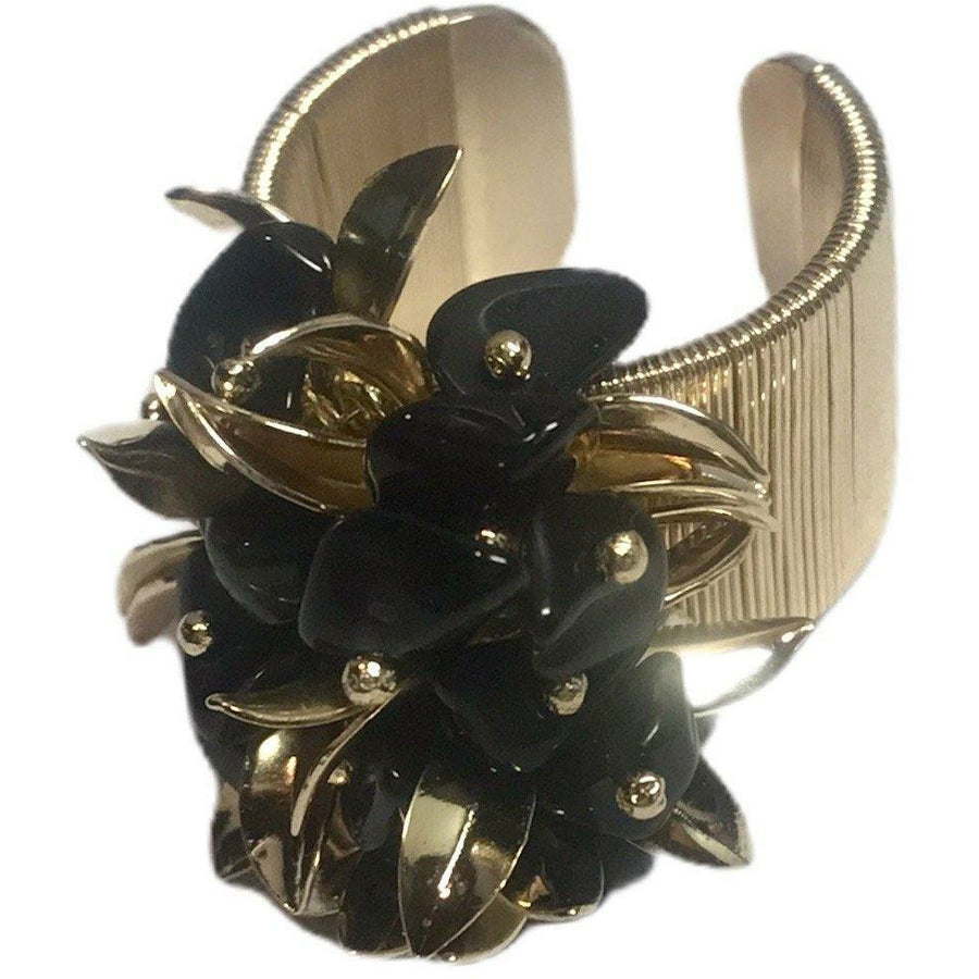 Cluster Ring - Black Agate