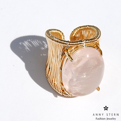 Filo D'oro Ring - Rose - Anny Stern Jewelry