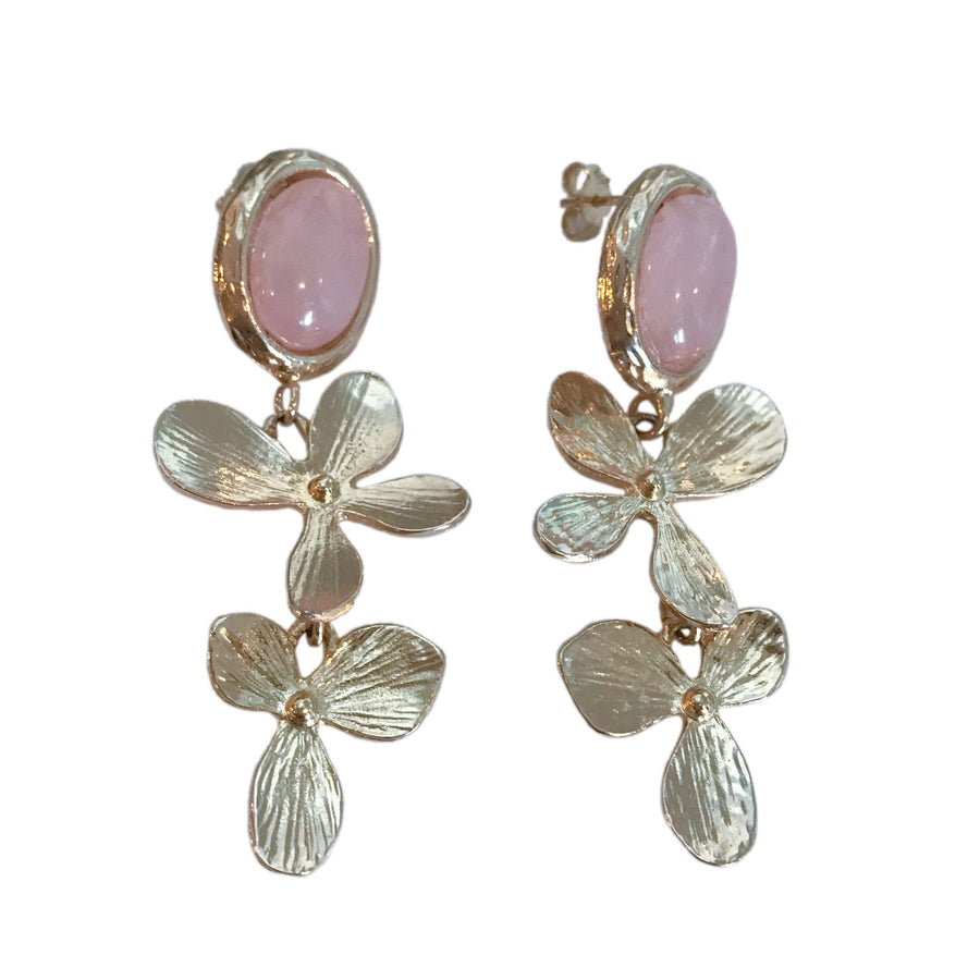 Fiore earrings - Rose Quartz