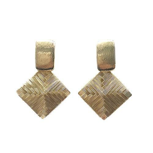 Handwoven Basket Earrings