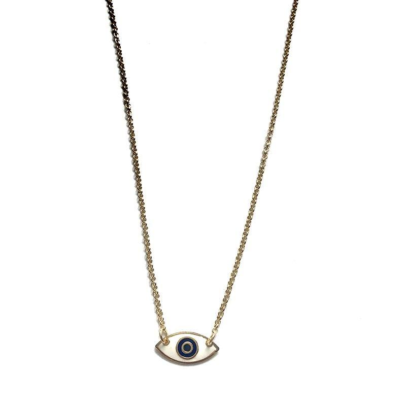 White Eye Necklace - Anny Stern Jewelry