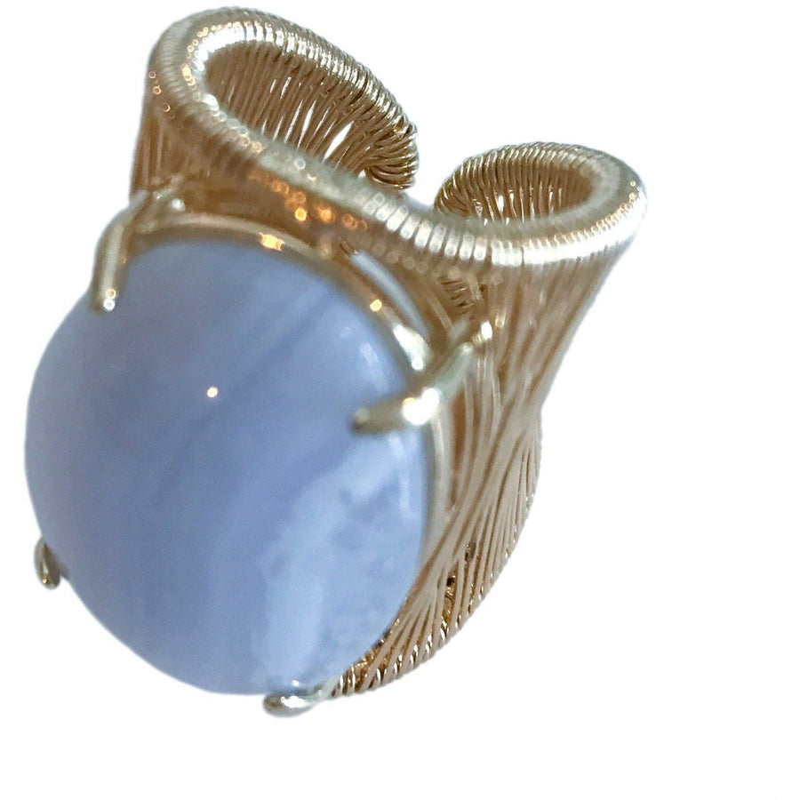 Filo D'Oro ring - Blue Lace Agate