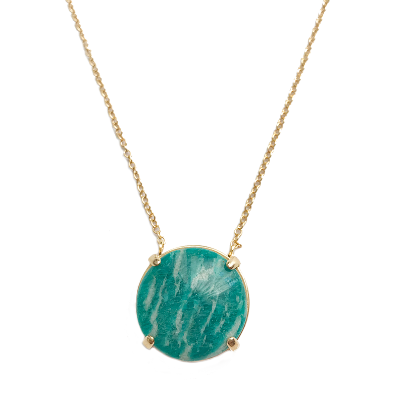 Luna Necklace - Dark Amazonite