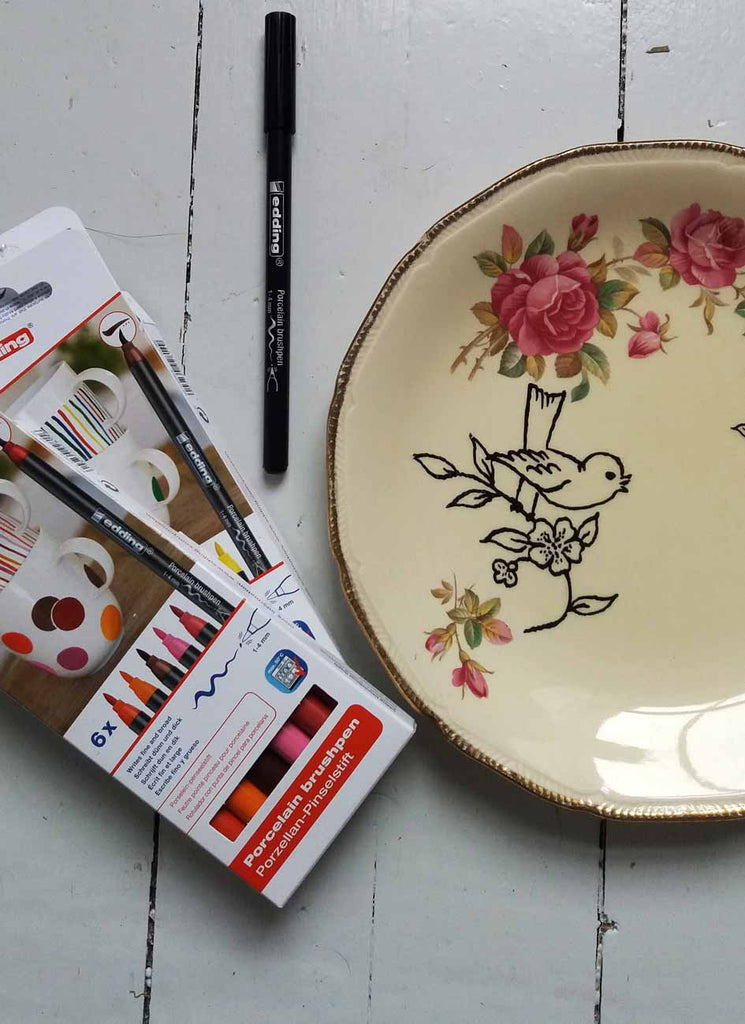 edding Porcelain brushpens project