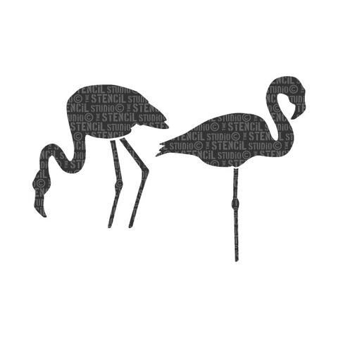Stencil Studio - Flamingoes Stencil - A5