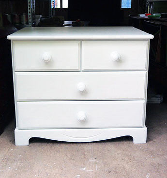 Custom Listing for Pauline hand painted vintage chest of drawers in Fusion MIneral paint casement white