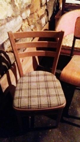 Pair of vintage retro chairs  available for reupholstery and painting your choice of colour
