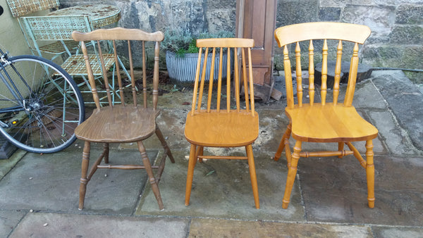 Custom Listing for Mairi Three painted mismatched vintage dining chairs in Fusion Mineral Paint