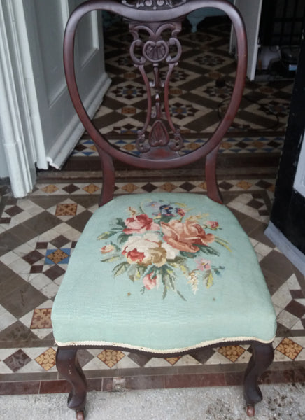 Antique vintage nursing bedroom chair  available for reupholstery and painting your choice of colour