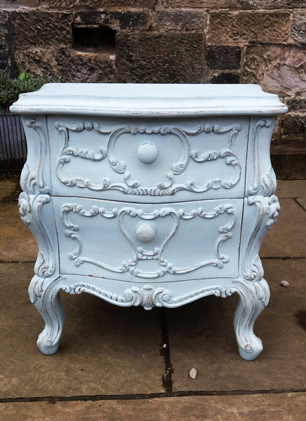Little French bedside cabinet. Repainted in fusion mineral paint