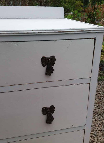 Custom Listing for Catherine  hand painted sideboard with bird design and hand painted chest of drawers